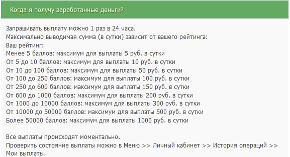 Скриншот Вывод средств с ProfiTCentR