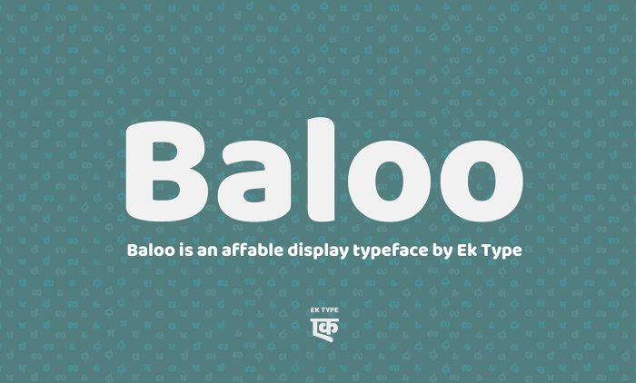 Шрифт Baloo